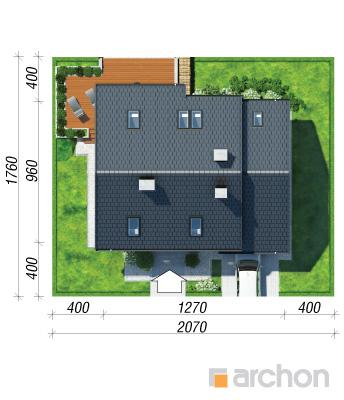 projekt Dom w filodendronach sytuacja