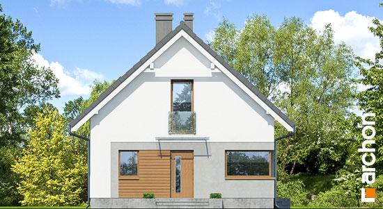 Elewacja frontowa projekt dom w rododendronach 11 n  264