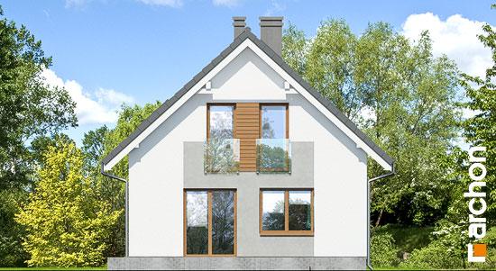 Elewacja ogrodowa projekt dom w rododendronach 11 n  267