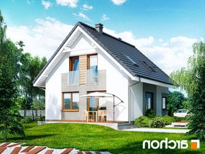 projekt Dom w rododendronach 11 (N) lustrzane odbicie 2