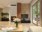 projekt Dom w rododendronach 11 (N) Strefa dzienna (wizualizacja 1 widok 1)