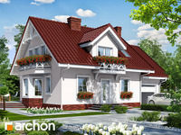 projekt Dom w rododendronach 6 widok 1