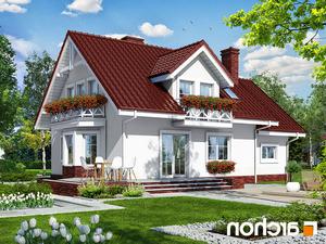 projekt Dom w rododendronach 6 lustrzane odbicie 2