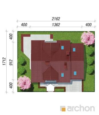 projekt Dom w rododendronach 6 sytuacja