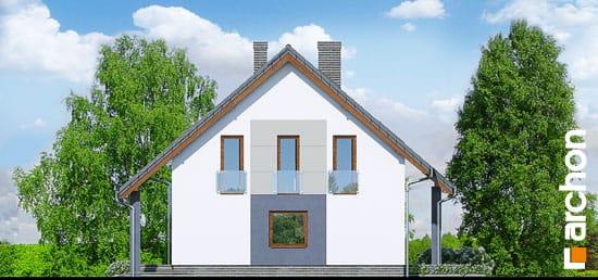 Elewacja boczna projekt dom w pieknotkach  265