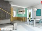 projekt Dom w pięknotkach Aranżacja kuchni 1 widok 1
