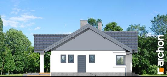 Elewacja boczna projekt dom w leszczynowcach  265