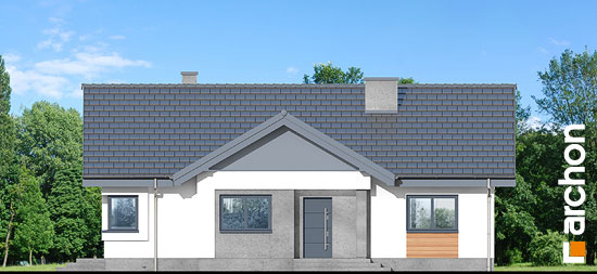 Elewacja frontowa projekt dom w leszczynowcach  264