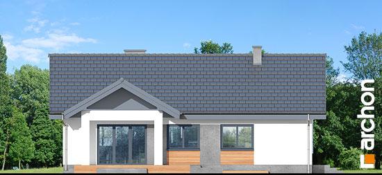 Elewacja ogrodowa projekt dom w leszczynowcach  267