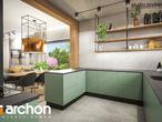 projekt Dom w leszczynowcach Wizualizacja kuchni 1 widok 1