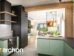 projekt Dom w leszczynowcach Wizualizacja kuchni 1 widok 2
