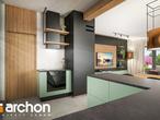 projekt Dom w leszczynowcach Wizualizacja kuchni 1 widok 3