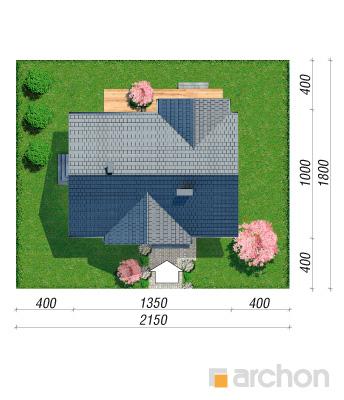 projekt Dom w leszczynowcach sytuacja