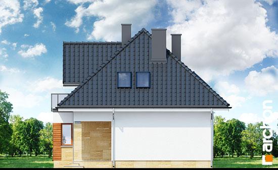 Elewacja boczna projekt dom w awokado n  265