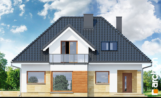Elewacja frontowa projekt dom w awokado n  264