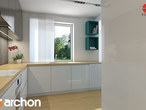 projekt Dom w awokado (N) Wizualizacja kuchni 2 widok 2