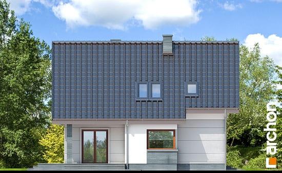 Elewacja boczna projekt dom w milowonkach  266