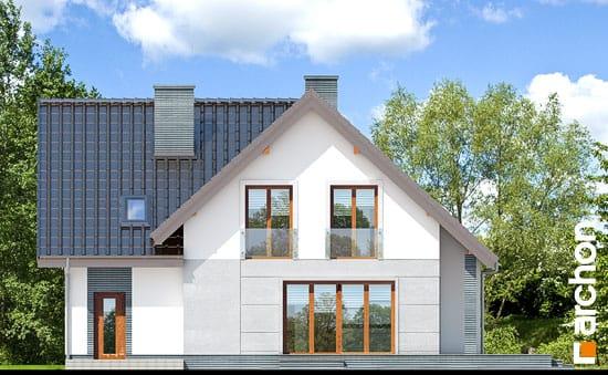 Elewacja ogrodowa projekt dom w milowonkach  267