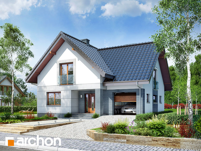 Projekt: Dom w miłowonkach Wizualizacja widok 1