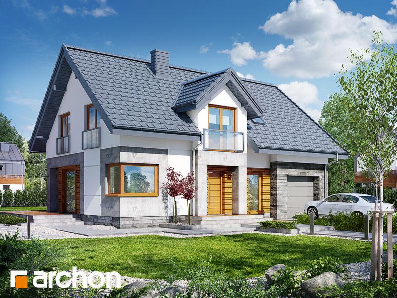 Projekt: Dom w janowcach Wizualizacja widok 1