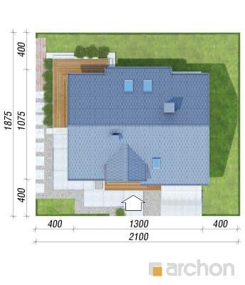 projekt Dom w janowcach sytuacja