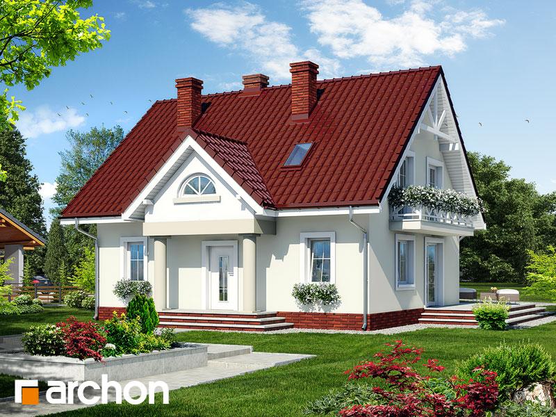 Projekt: Dom w truskawkach 2 ver.2 Wizualizacja widok 1