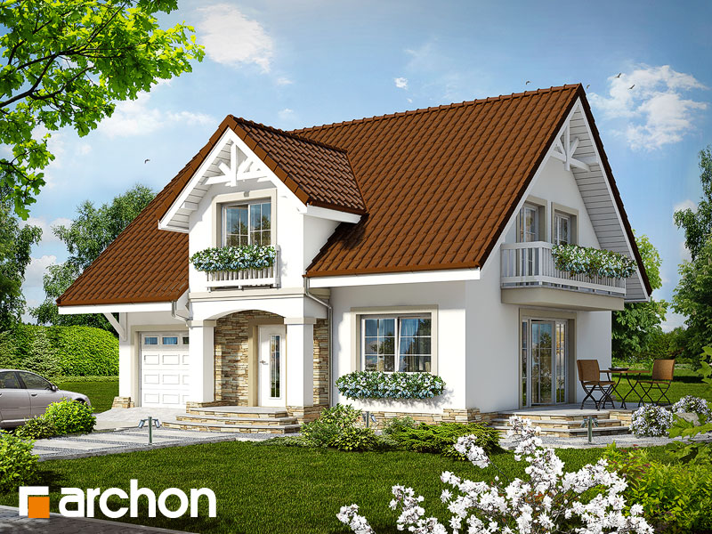 Projekt: Dom w asparagusach ver.2 Wizualizacja widok 1