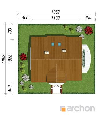 projekt Dom w asparagusach sytuacja