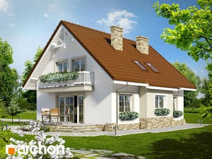projekt Dom w asparagusach widok 2