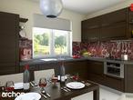 projekt Dom pod jarząbem (G2) Aranżacja kuchni 1 widok 2