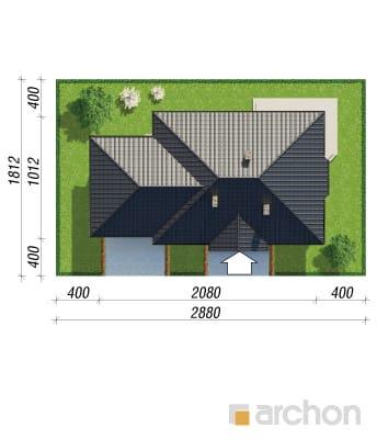 projekt Dom pod jarząbem (G2) sytuacja