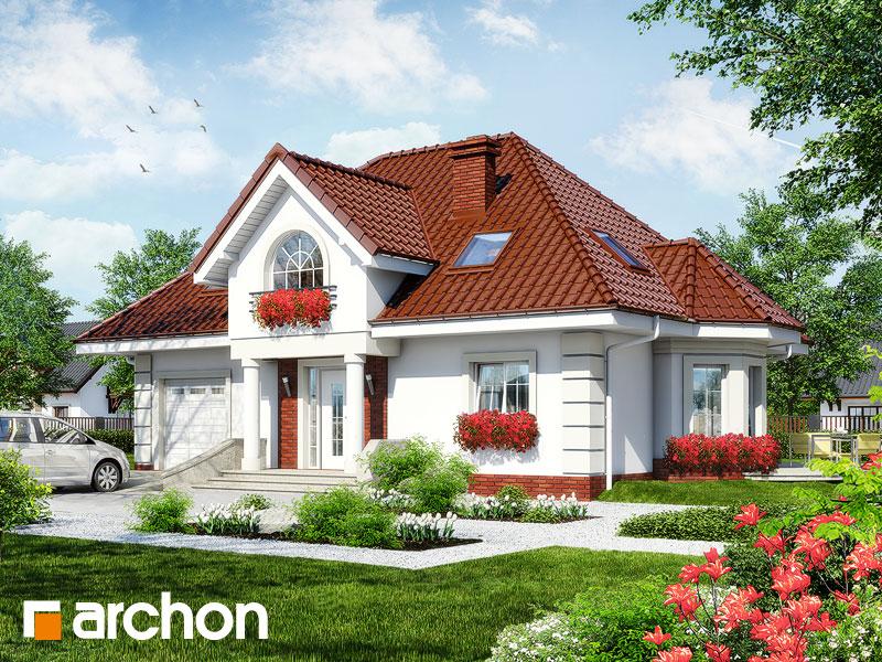 Projekt: Dom w glicyniach ver.2 Wizualizacja widok 1