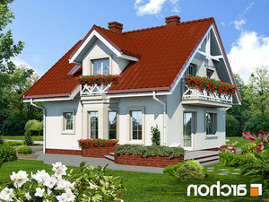 projekt Dom w rododendronach lustrzane odbicie 2