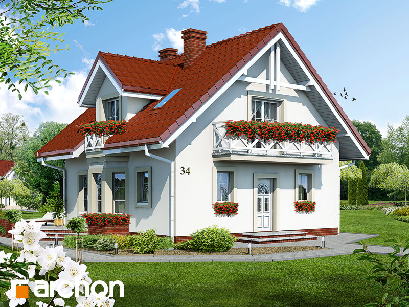 Projekt: Dom w rododendronach ver.2 Wizualizacja widok 1