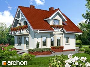 projekt Dom w rododendronach widok 2