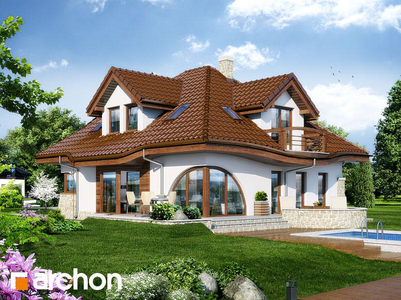 Projekt: Dom w zefirantach ver.2 Wizualizacja widok 1