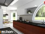 projekt Dom w zefirantach Aranżacja kuchni 1 widok 3