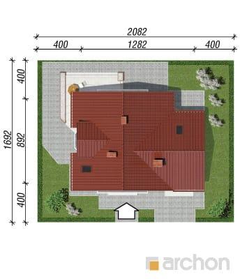 projekt Dom w rododendronach 2 sytuacja