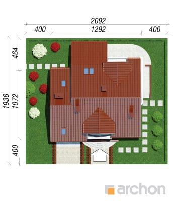 projekt Dom w tamaryszkach 4 sytuacja