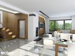 projekt Dom w czarnuszce (G2) Strefa dzienna (wizualizacja 1 widok 1)