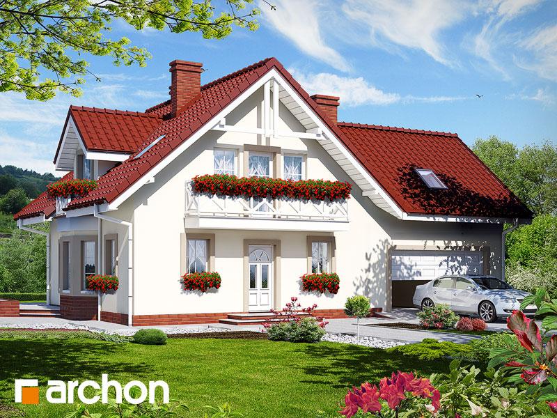 Projekt: Dom w rododendronach 2 (G2) ver.2 Wizualizacja widok 1