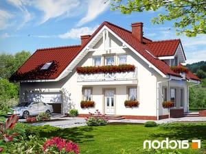 projekt Dom w rododendronach 2 (G2) lustrzane odbicie 1