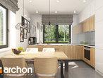 projekt Dom w zielistkach Wizualizacja kuchni 1 widok 1