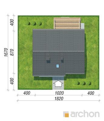 projekt Dom w zielistkach sytuacja