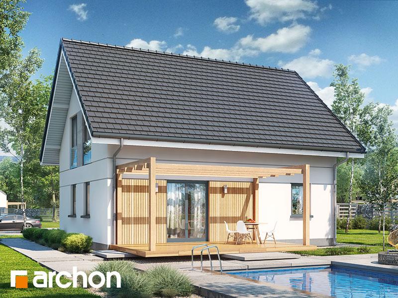 projekt Dom w zielistkach widok 1