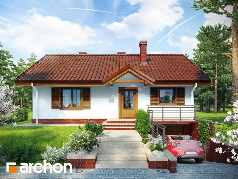 Projekt: Dom w jeżynach ver.2 Wizualizacja widok 1