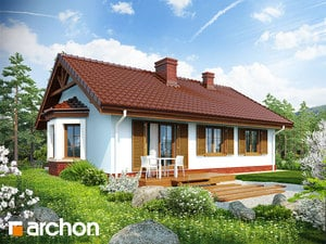 projekt Dom w jeżynach widok 2