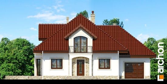 Elewacja frontowa projekt dom w jasminowcach ver 2  264