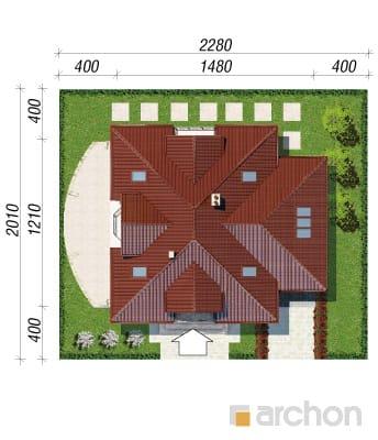 projekt Dom w jaśminowcach sytuacja