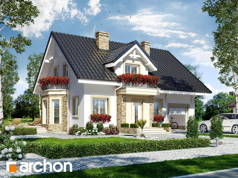 Projekt: Dom w rododendronach 14 ver.2 Wizualizacja widok 1